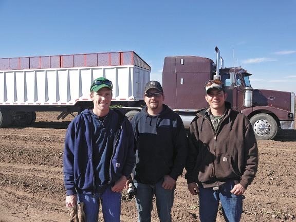 Rupple's sons, left to right, Chad, Paul and Ryan are also beet growers