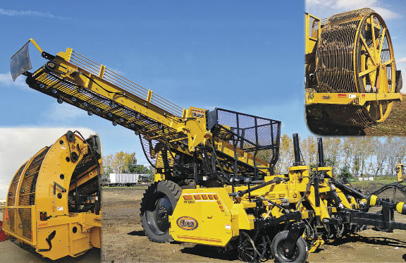 Alloway 12-Row Folding Harvester