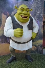 Shrek in wax